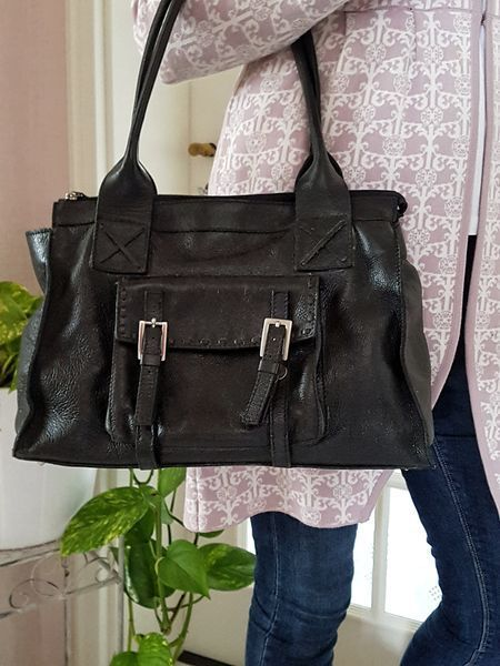 Schwarz Shopper Tasche Damen Leder Kapworks Capetown Bag dsQrCth