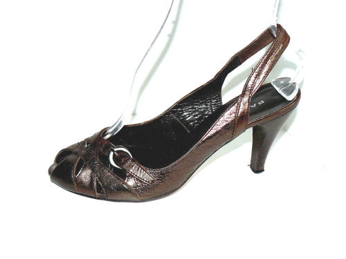 PASITO Slingbacks Pumps Damen Leder bronze 40