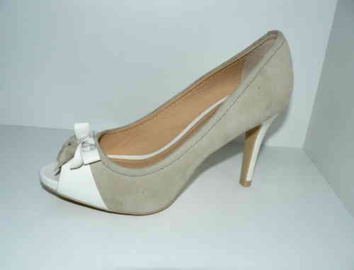 GEOX High Heels Stilettos Pumps Wildleder beige 36,5