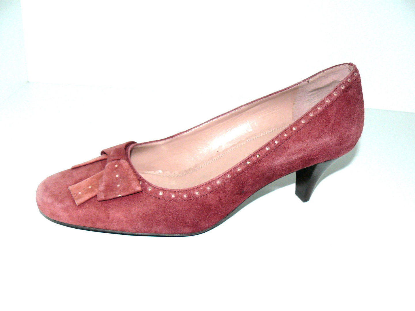 super popular 62adc e7606 DANIEL HECHTER Pumps Kitten Heels Schleife Wildleder 41