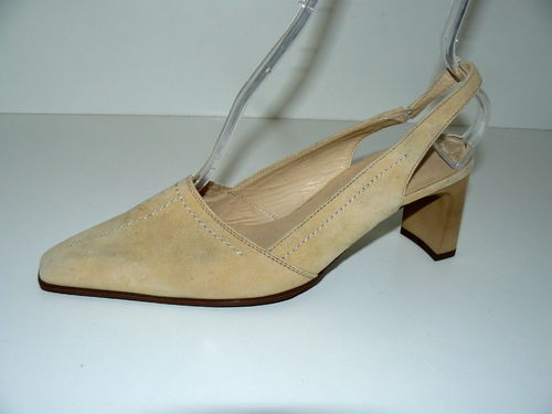 HÖGL Slingbacks Pumps Damen Wildleder beige 38,5