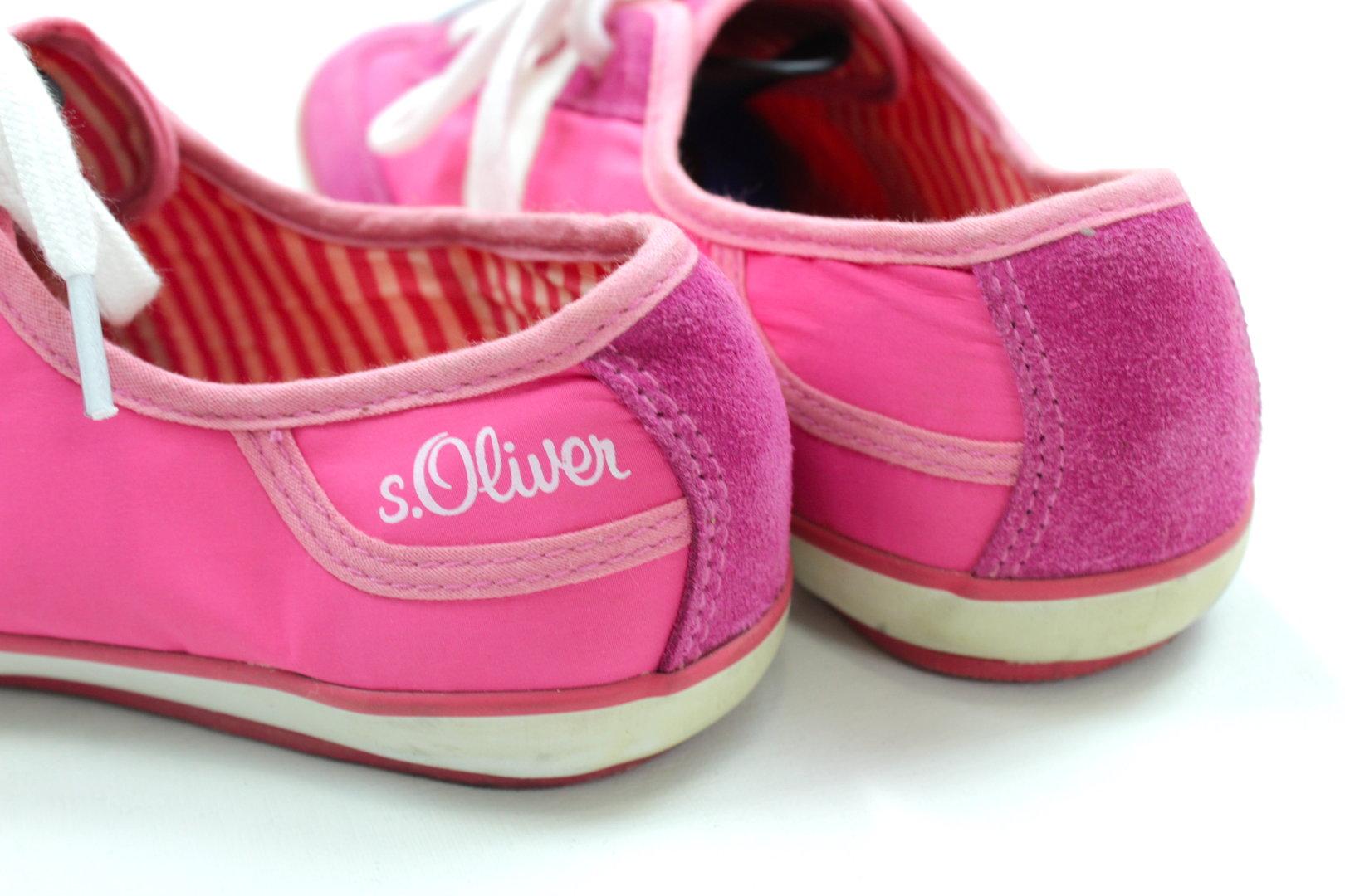 S.OLIVER Sneaker Halbschuhe Schnürer Damen rosa 38