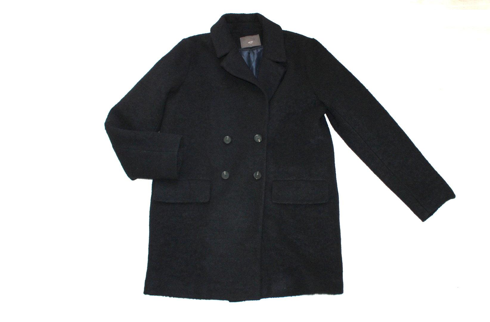 hot sale online 56ce0 e73ff ICHI Woll Kurz Mantel Damen Winter schwarz 40