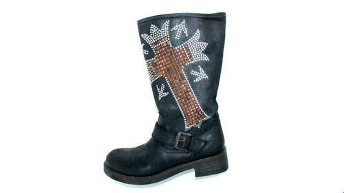 CATWALK Winter Stiefel Biker Pailletten 36