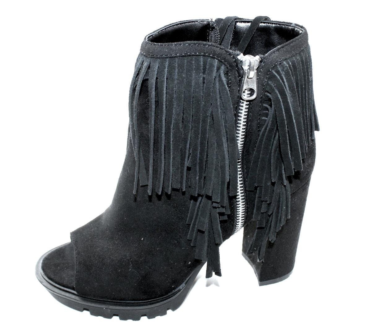 sports shoes f4190 8b18e CATWALK Fransen Boots Stiefeletten Peeptoes