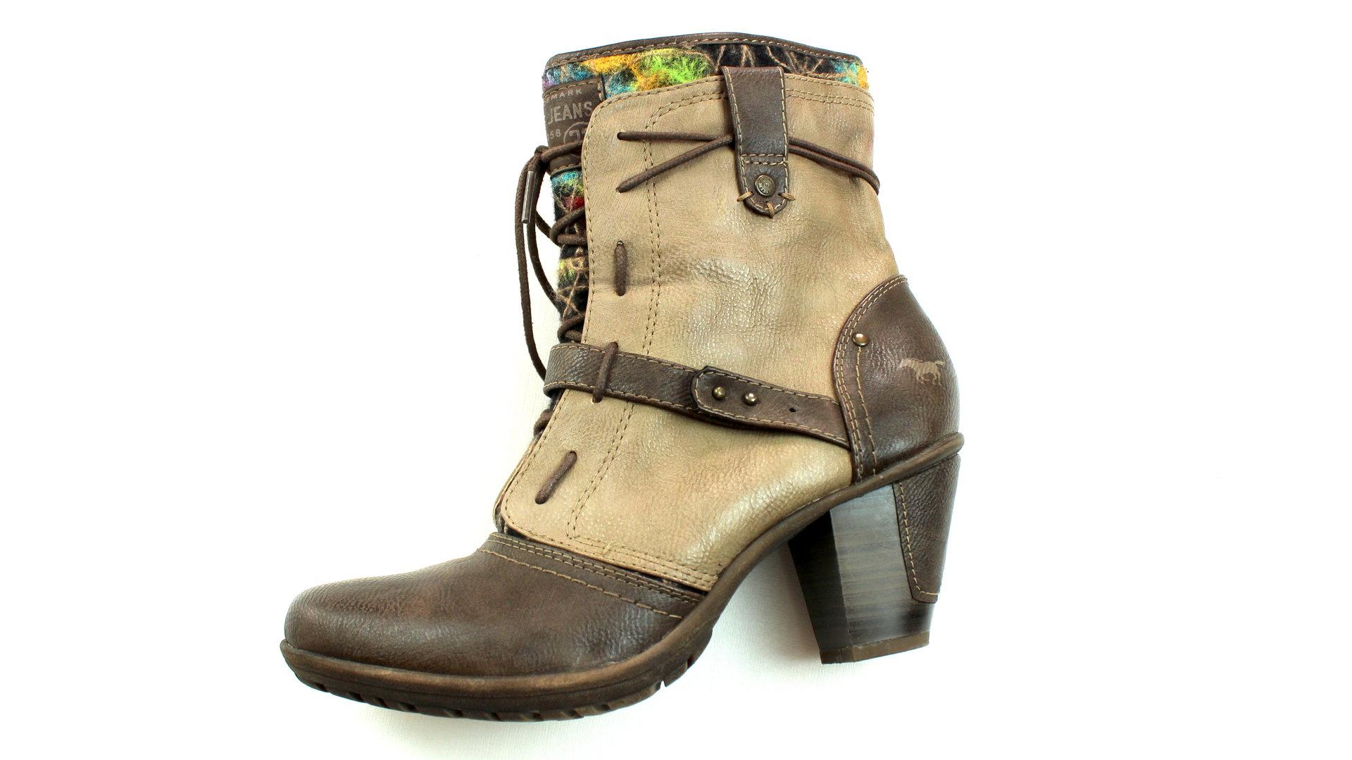 quality design 10f66 2272f MUSTANG Stiefeletten Boots Damen Schnürer braun 40