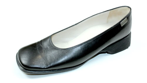 BETTY BARCLAY Slipper Ballerinas Halb Schuhe Leder schwarz 39
