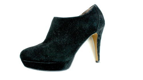 BRONX High Heels Hochfront Pumps Plateau schwarz