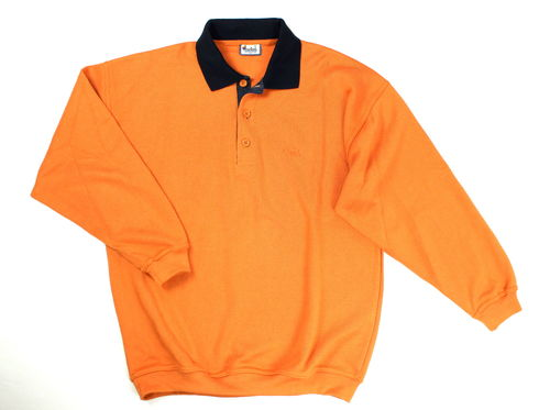 WIND Polo Sweat Herren Sailor orange Langarm M
