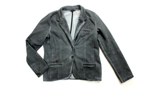 CECIL Sweat Blazer Jacke Used Optik grau L
