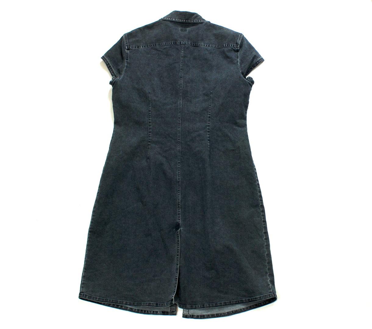 ESPRIT Jeans Kleid Denim blau Kurzarm 42 wolkengang.de