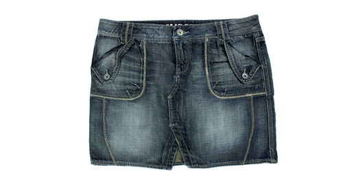 IL DOLCE Mini Jeans Rock blau Denim 42