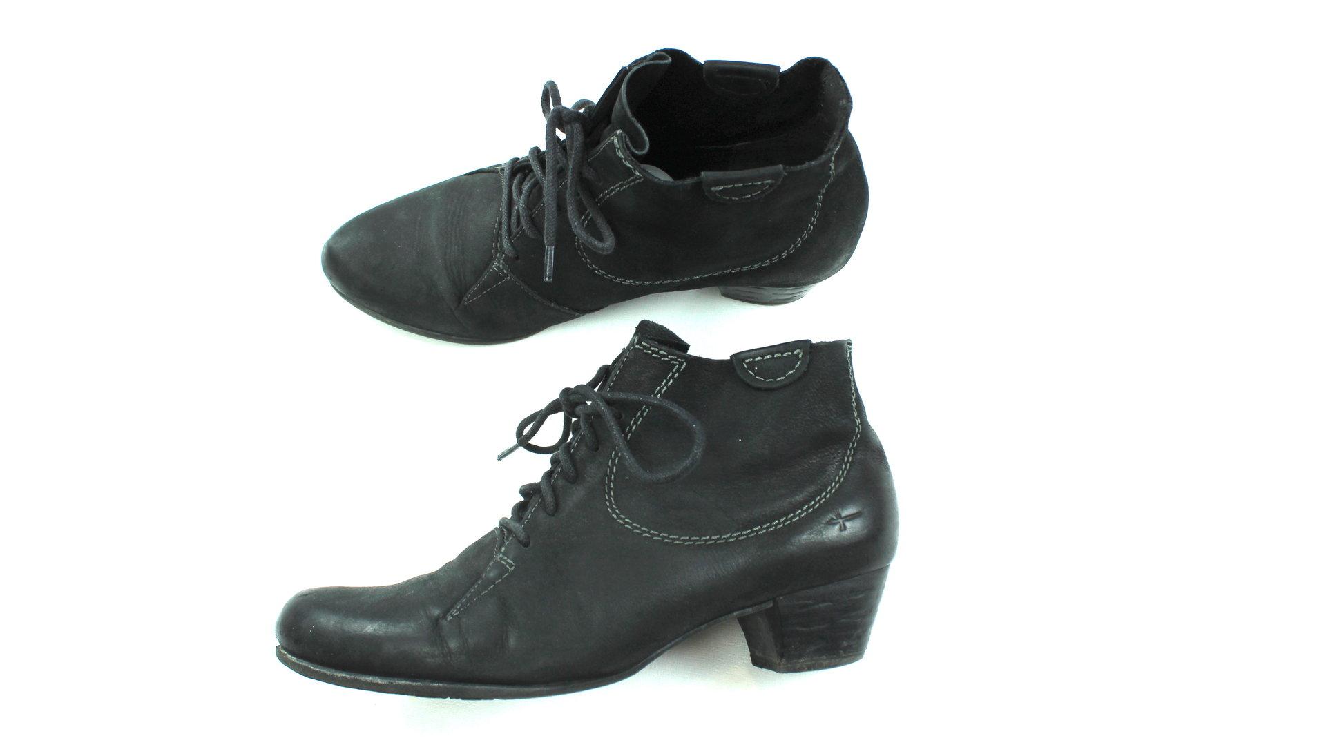 TAMARIS Schnür Boots Stiefeletten schwarz Wildleder 39