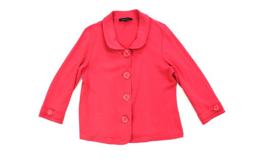 ONE TOUCH Sweat Jacke Blazer Bubikragen pink 3/4 Arm 42