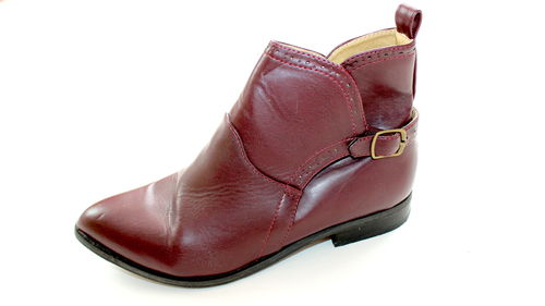 C&A Hochfront Slipper Ankle Boots Stiefeletten weinrot 38