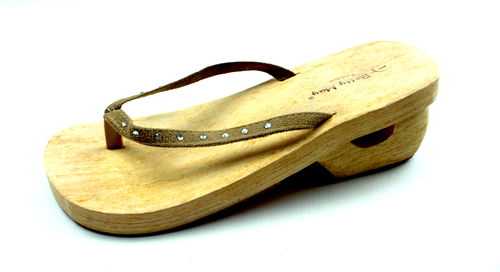 BETTY MAY Zehentrenner Sandalen Schlupf Pailletten 41