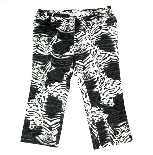WOMENS SELECTION Stretch Sommer Hose Slim Zebra 56