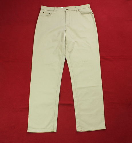 CAMARGUE Stretch Jeans Hose Damen beige 5-Pocket Nieten 54