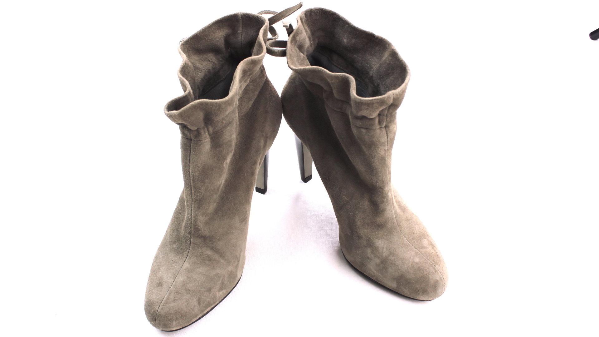 Stiefeletten Boots Beige Stilettos Zara Ankle Wildleder zVpMqSUG