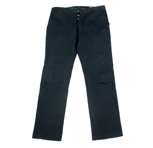GUTTERIDGE Chino Stretch Hose Herren dunkelblau 52