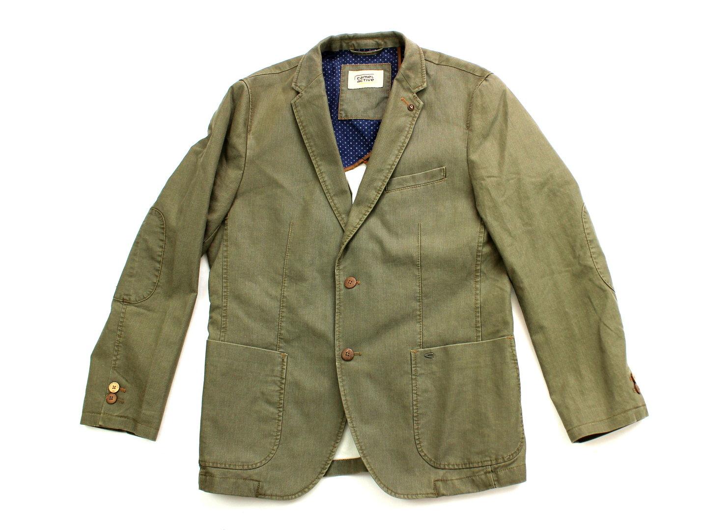 newest collection 963e7 cc46a CAMEL ACTIVE Sakko Jacke Herren oliv Comfort Fit Gr.50