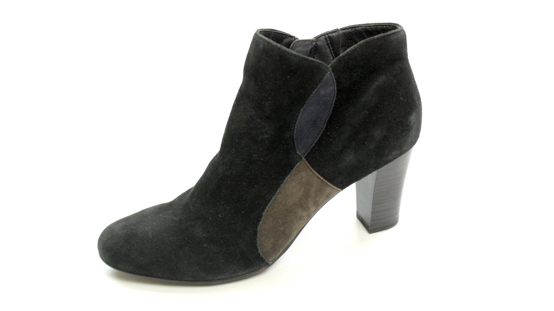 CAPRICE Ankle Boots Stiefeletten Wildleder schwarz 42