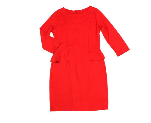COCKTAIL Kleid Mini Business Damen Rüschen rot 38