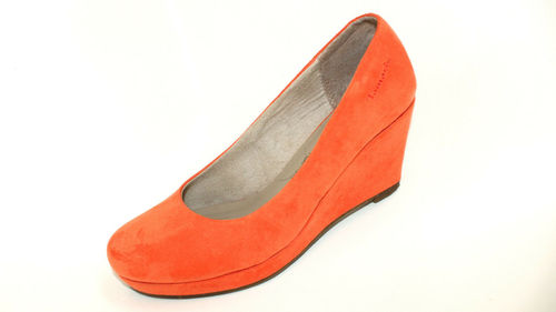 TAMARIS Wedges Pumps Damen orange Mesh Leder 36