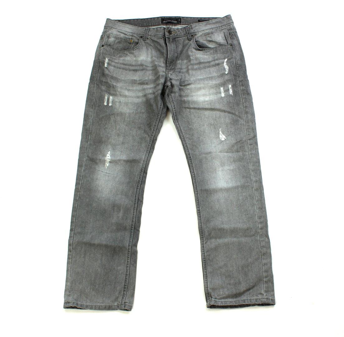C&A Jeans Herren straight leg Destroyed grau W 38 L 32