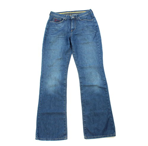 MAC PEARL Jeans Damen Denim Blue straight Five Pocket 38 L 32