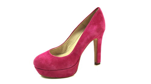 CONLEYS Plateau Pumps High Heels Wildleder pink 37