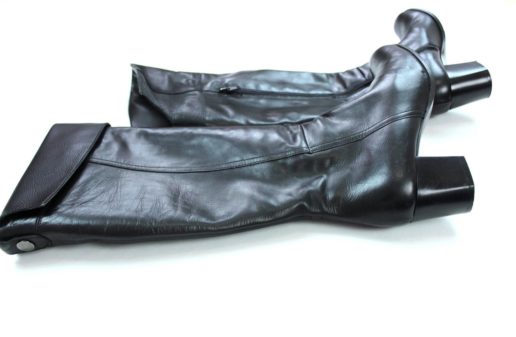 WINTER STIEFEL Damen Leder schwarz Umschlag 38