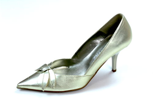 MARYPAZ High Heels Stilettos Pumps Damen gold spitz 37