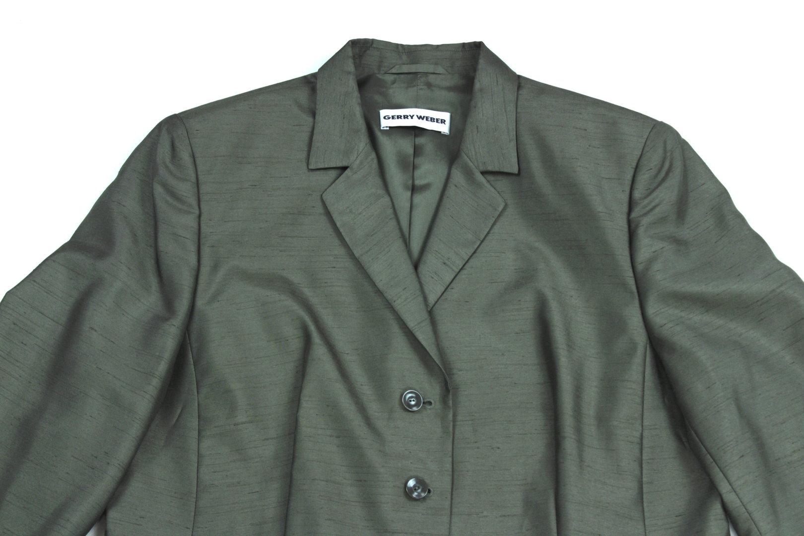 GERRY WEBER Business Anzug Damen oliv leicht 42