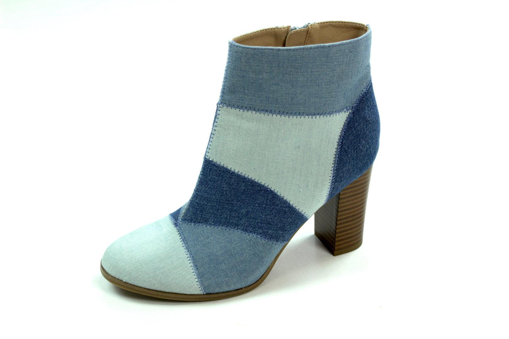 Blau 41 Damen Boots Gefüttert Catwalk Jeans Stiefeletten JclFK1