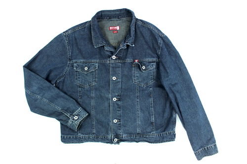 MUSTANG Jeans Jacke Herren Denim Dark Blue 2XL