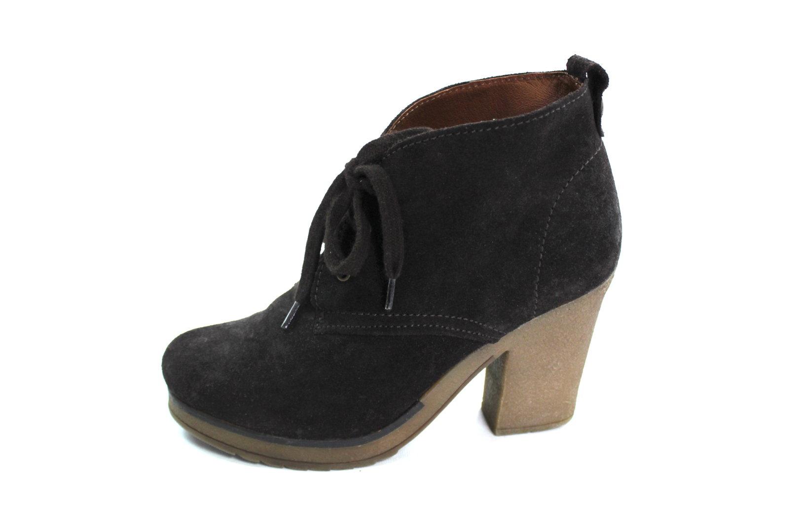 MARK ADAM Plateau Boots Stiefeletten Damen Wildleder braun 38