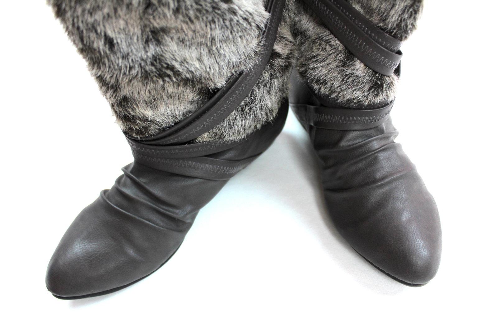 STREET ONE Fell Stiefeletten Boots Damen grau 39