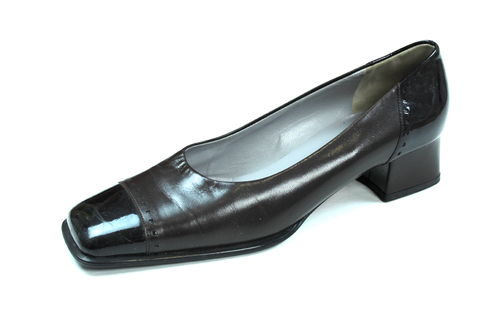 PETER KAISER Lack Pumps Slipper Damen Leder braun 38