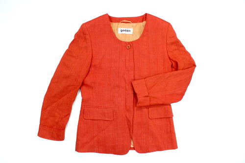 GADDI´S Woll Leinen Blazer Business Damen klassisch orange 38