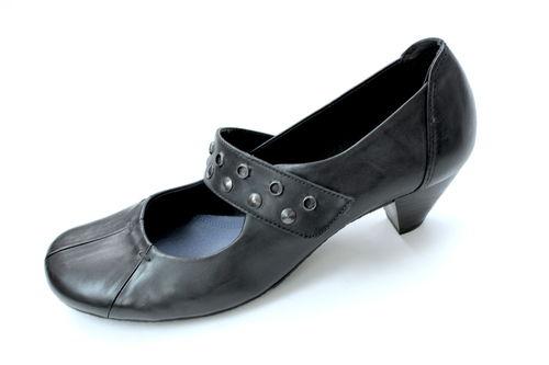 GABOR Pumps Mary Jane Damen Leder schwarz Nieten 38,5