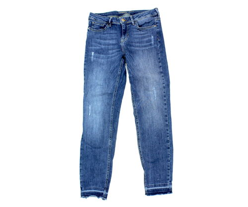 ORSAY 7/8 Jeans Damen Denim Blue destroyed Stretch 38