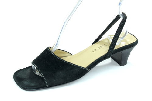 GOERTZ SHOES Sandaletten Pumps Slingbacks Damen schwarz 37