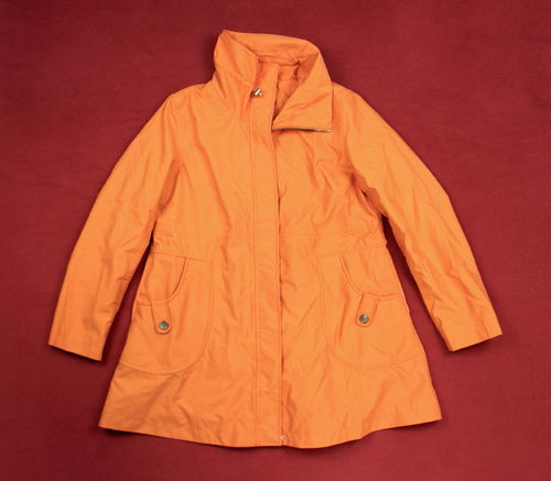 LANDS END Kurzmantel Jacke Damen Sommer orange S