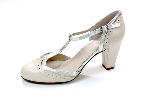 MINT & BERRY Riemchen Pumps Damen rose High Heels Leder 37