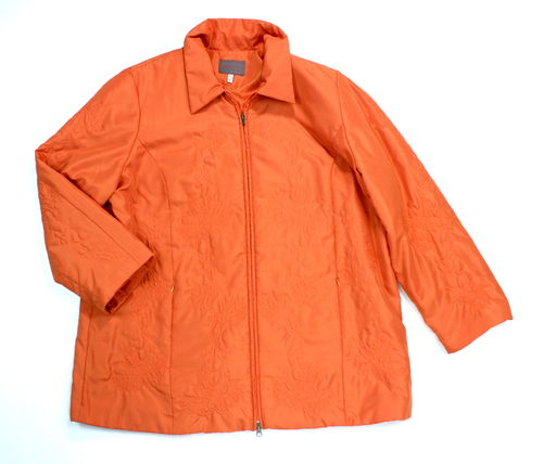 CHALOU Stepp Jacke Damen orange Stickerei 48