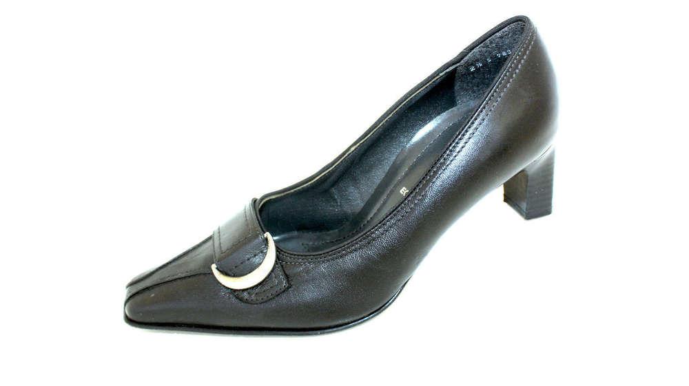 ARA Pumps Damen Schuhe Leder schwarz Schnalle 35 G