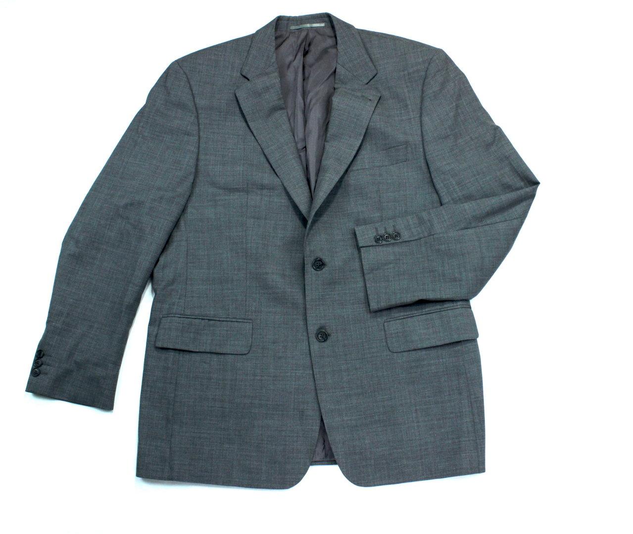 FRANCO CALLEGARI Anzug Jacke Sakko Herren Wolle grau 32