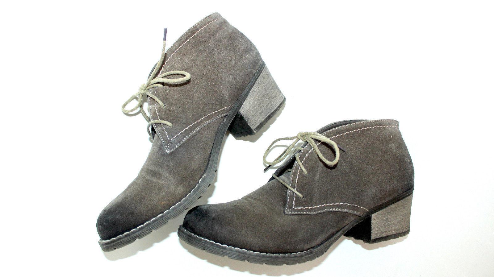 RIEKER Schnür Boots Damen Woll Futter Stiefeletten