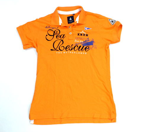 GAASTRA Polo Shirt Kurzarm Damen Pique Stickerei orange XL